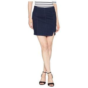 Free People Femme Fatal Pull-On Denim Mini Skirt